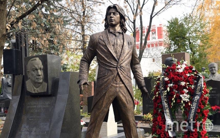 Памятник Дмитрию Хворостовскому в Москве. Фото РИА Новости