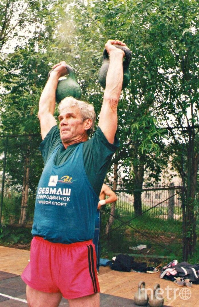 """Артемий Заварзин, 82 года. Чемпион мира по гиревому спорту, в ноябре поеду на соревнования в Словению. Фото """"Metro"""""""