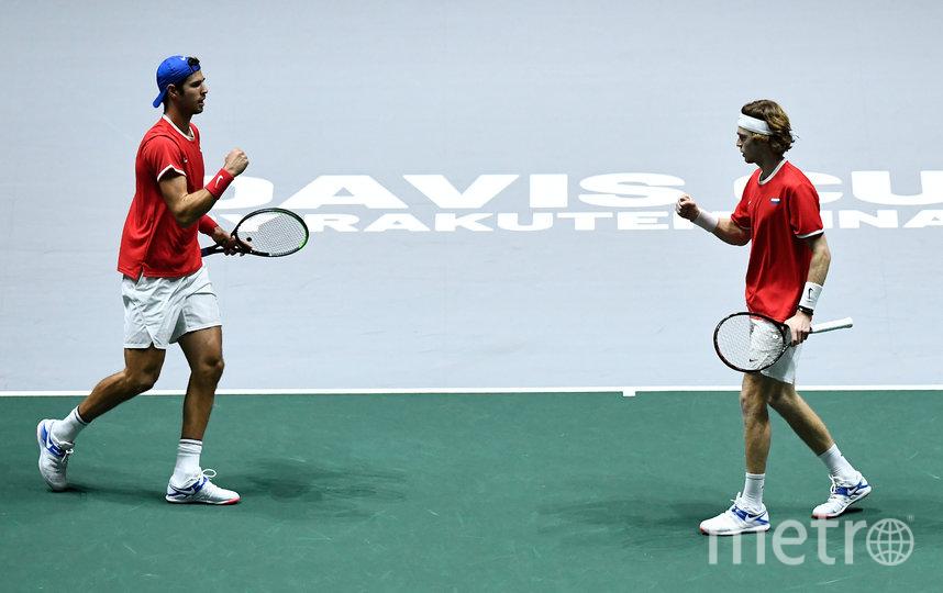 Карен Хачанов и Андрей Рублёв вдвоём провели все матчи. Фото AFP