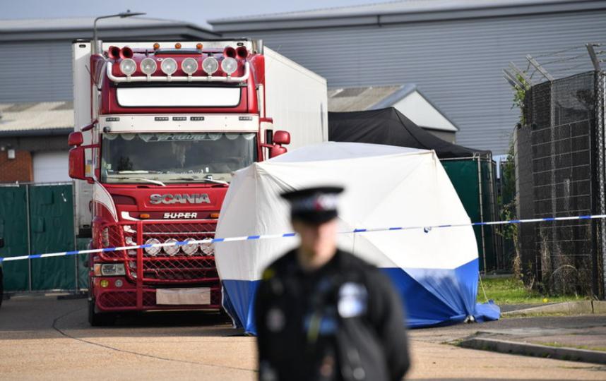 Грузовик с 39 трупами обнаружили в британском графстве Эссекс в октябре. Фото AFP