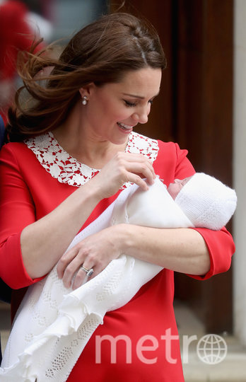 Кейт Миддлтон с принцем Луи. Фото Getty