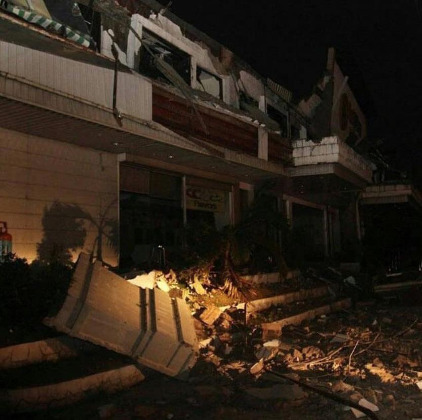 Последствия землетрясения. Фото скриншот twitter.com/IgliLime