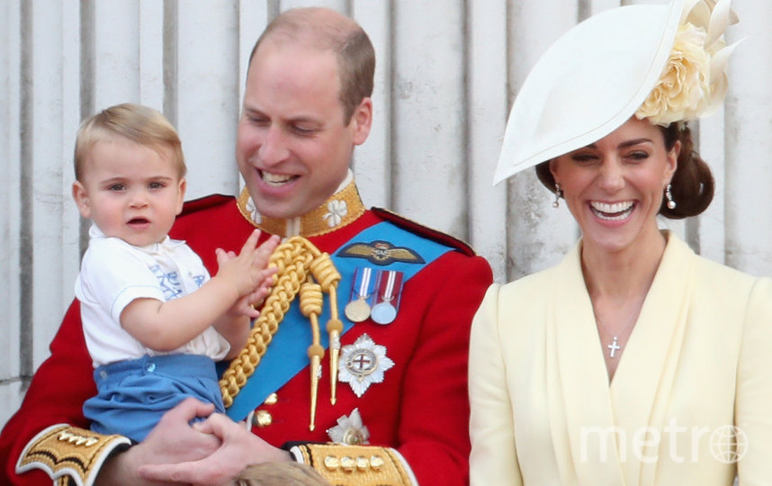 Принц Уильям и Кейт Миддлтон с Луи. Фото Getty