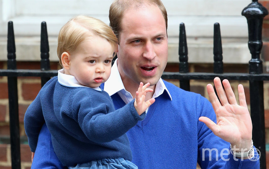 Принц Джордж и принц Уильям. Фото Getty