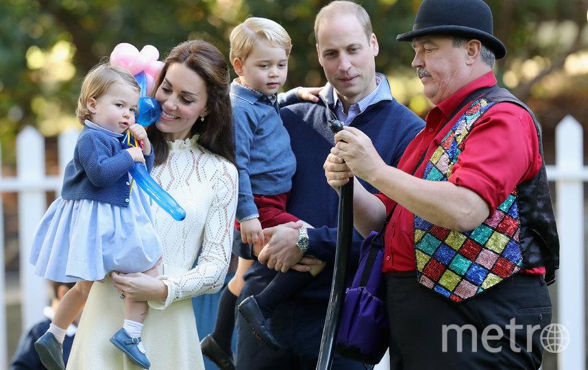 Принц Уильям и Кейт Миддлтон с Джорджем и Шарлоттой. Фото Getty