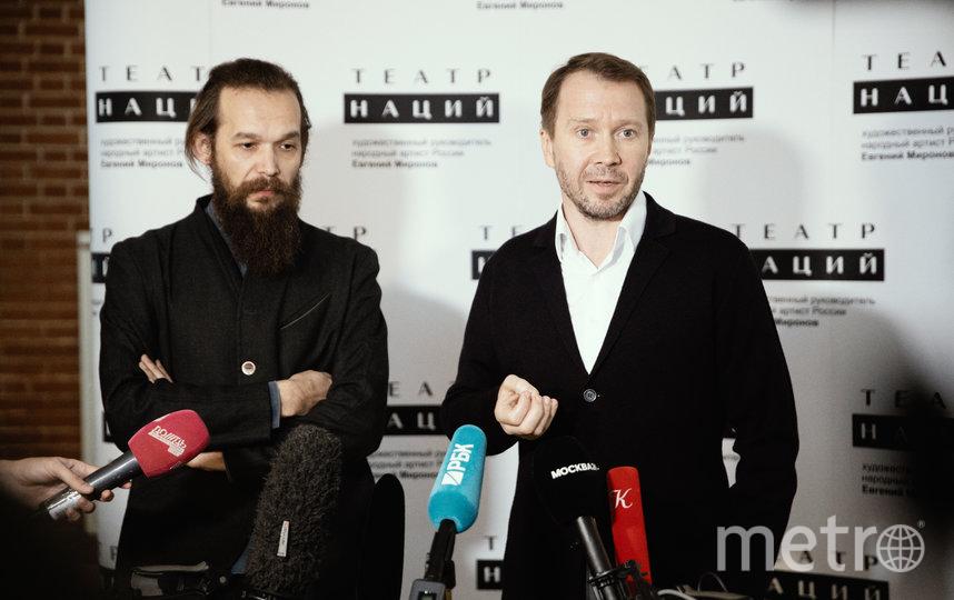 Режиссер Михаил Патласов и Евгений Миронов. Фото Пресс-служба Театра Наций