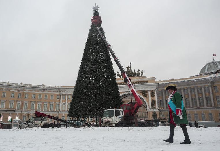 """В 2020 году власти обсудят установку живой ели на Дворцовой. Фото Фотоархив, """"Metro"""""""