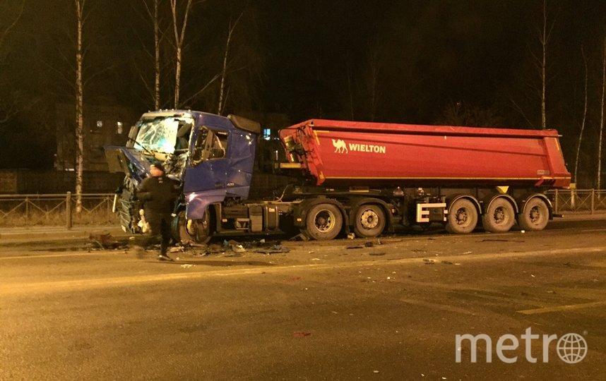 Фото с места аварии в Сертолово. Фото vk.com