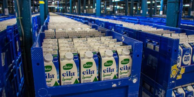 Безлактозное молоко Valio.
