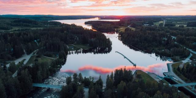 Ювяскюля - озерный регион.