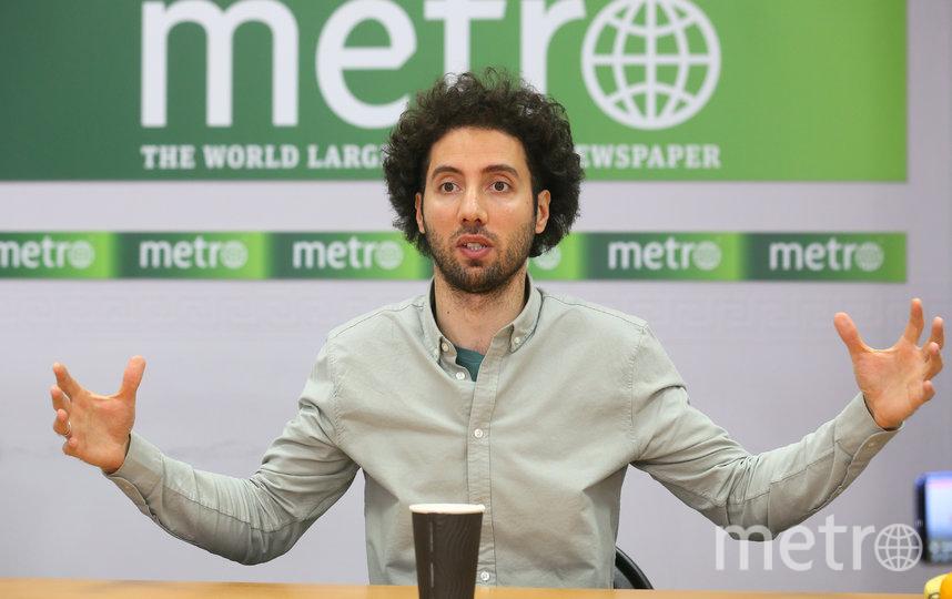 Дмитрий Романов в редакции Metro-Москва. Фото Василий Кузьмичёнок