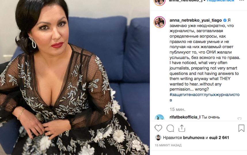 Анна Нетребко, фотоархив. Фото скриншот www.instagram.com/anna_netrebko_yusi_tiago/