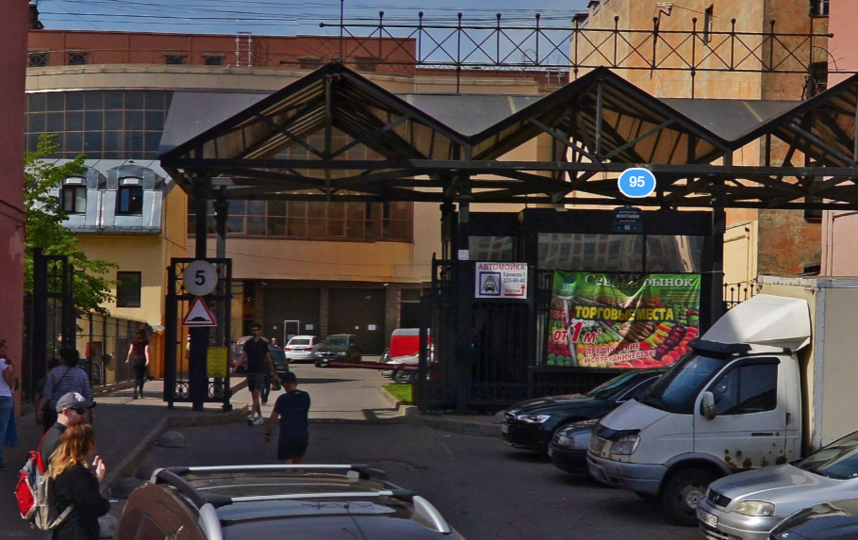 Сенной рынок. Фото Яндекс.Панорамы