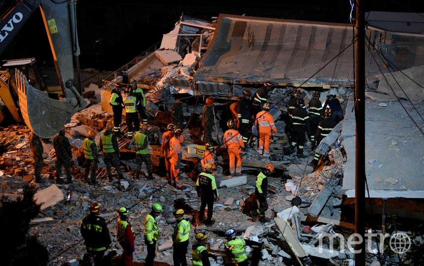 Последствия землетрясения в Албании. Фото AFP