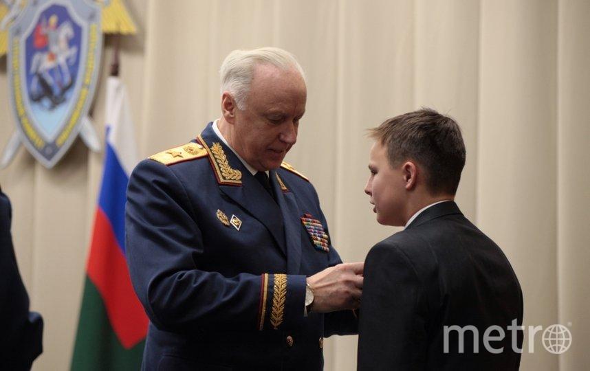 Награждение Димы в Москве. Фото sledcom.ru