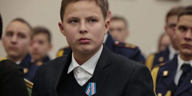 Награждение Димы в Москве.