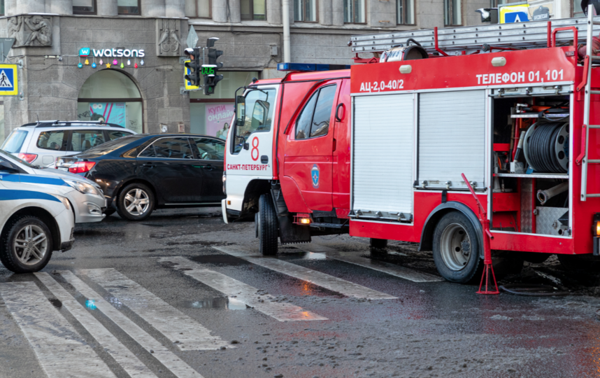 Пожар произошел в жилом доме на 8 Советской улице. Фото https://twitter.com/A_Mitjanina