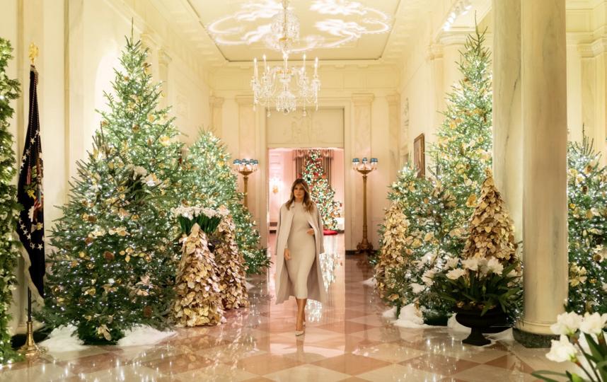 Убранство Белого дома к Рождеству-2020. Фото https://twitter.com/FLOTUS