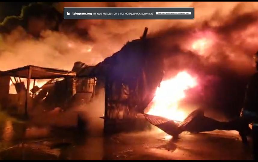 """Огонь охватил склад полностью. Фото пресс-служба МЧС, """"Metro"""""""
