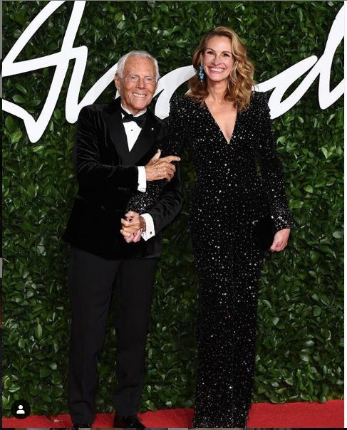 "Fashion Awards-2019. Джулия Робертс. Фото https://www.instagram.com/juliaroberts/, ""Metro"""