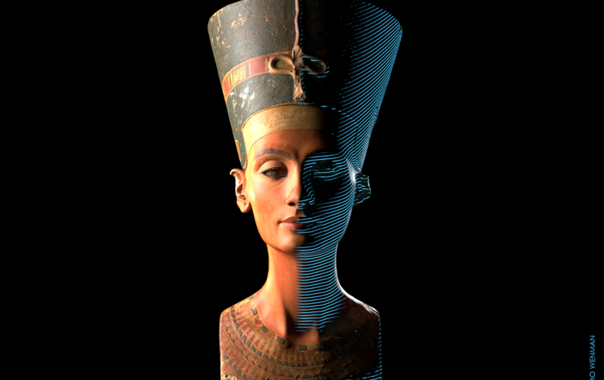 Легендарную Нефертити превратили в 3D-снимок. Фото Cosmo Wenman