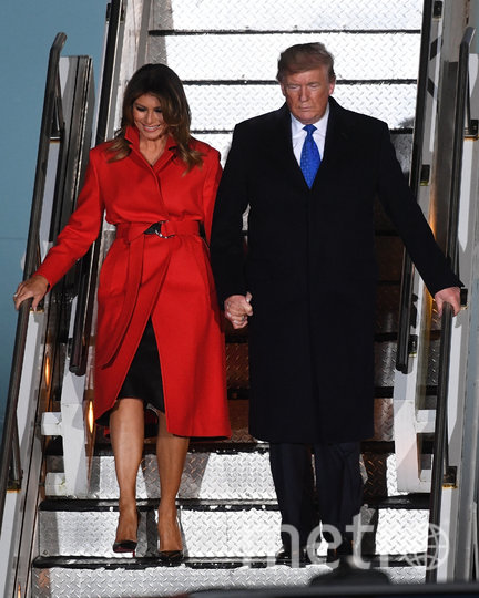 Мелания Трамп вместе с супругом прибыла в Лондон для встречи с мировыми лидерами. Фото Getty
