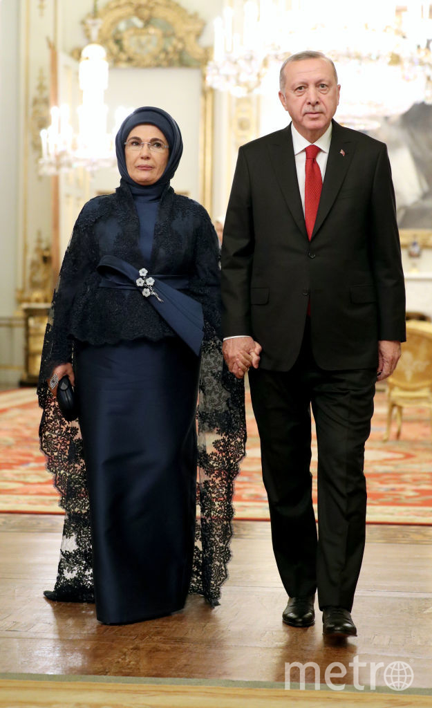 Прием в Букингемском дворце. Президент Турции с женой. Фото Getty