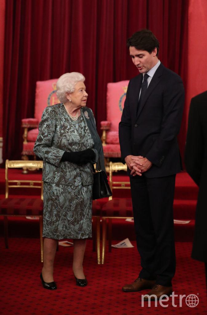 Прием в Букингемском дворце. Королева и Джастин Трюдо. Фото Getty