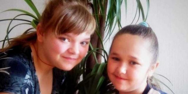 Дарья и её сестра Виктория, которую она спасла.