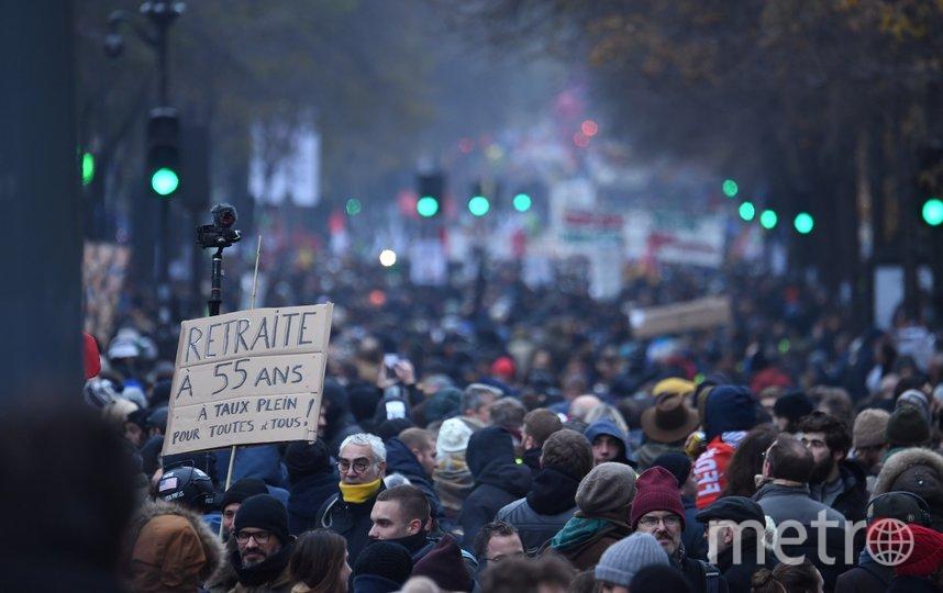 Во Франции началась общенациональная забастовка. Фото AFP