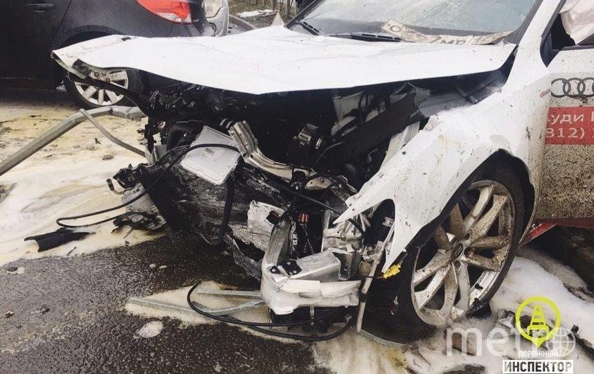 """Водитель разбил больше 10 машин. Фото """"Metro"""""""