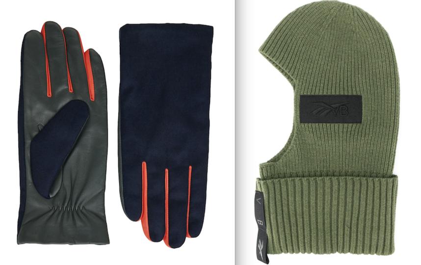 Перчатки, Балаклава. Фото COS, Reebok x Victoria Beckham