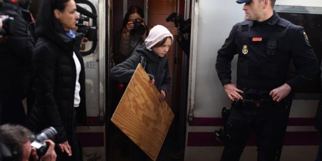 Грета Тунберг приехала в Мадрид для участия в демонстрациях.
