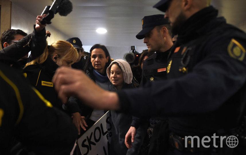 Грета Тунберг приехала в Мадрид для участия в демонстрациях. Фото Getty