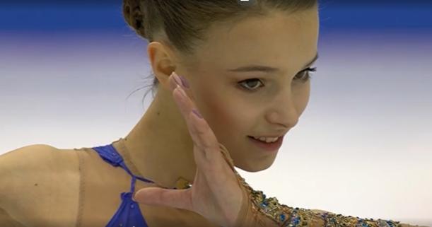 Финал Гран-при в Турине. Анна Щербакова. Фото скриншот видео www.1tv.ru