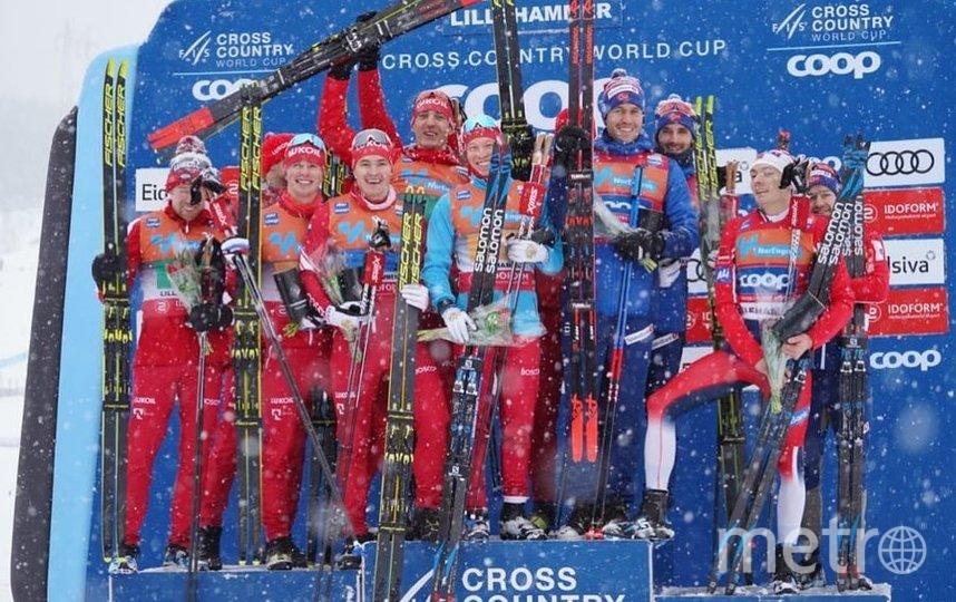 Российские команды заняли первые два места в эстафете. Фото Скриншот @russianskiteam