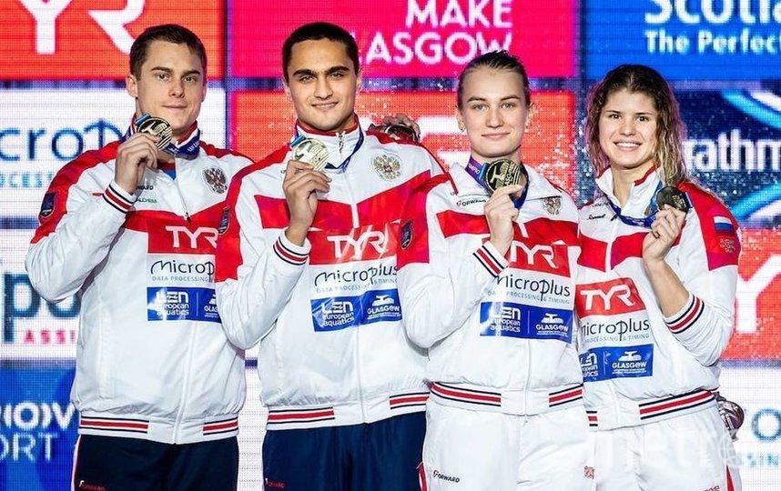Российские пловцы выиграли медальный зачёт Чемпионата Европы. Фото Скриншот @moskomsport