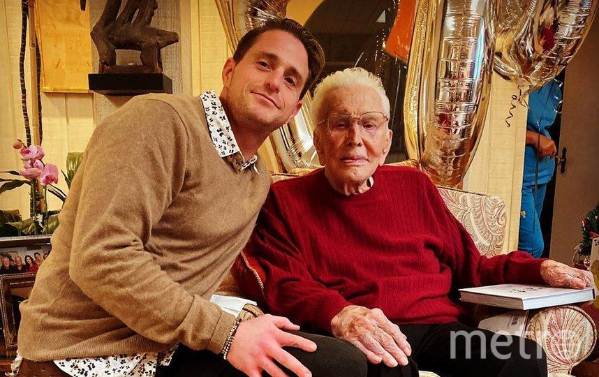 Кирк Дуглас с внуком Кэмероном. Фото www.instagram.com/cameronmorrelldouglas