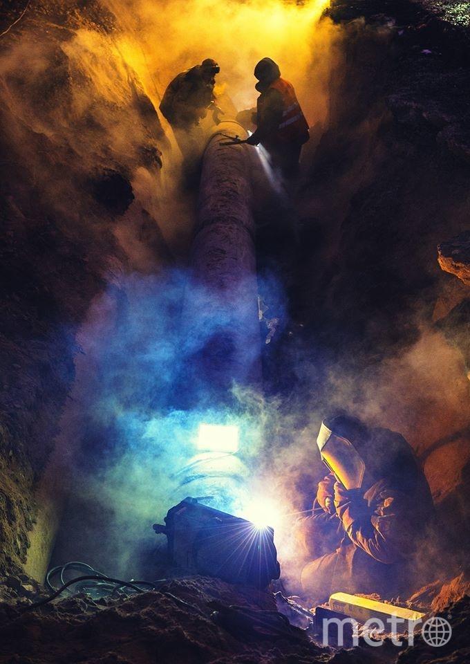 Ремонт теплотрассы во время Крещенских купаний. Фото Арсений | Russia