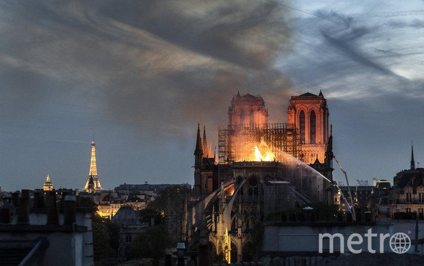 Пожар произошёл 15 апреля 2019 года. Фото Getty