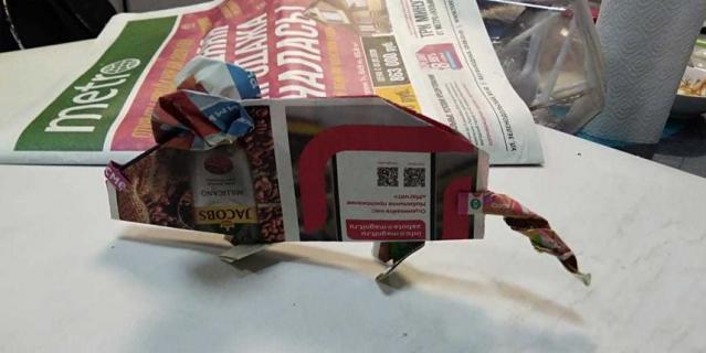 Наша читательница Галина Петрова создала ёлочную игрушку в виде символа будущего года – крысы.