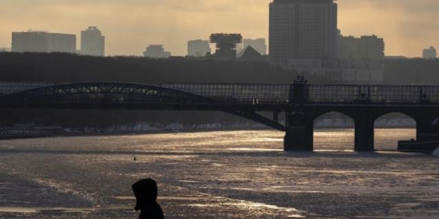 Вид на Андреевский мост.