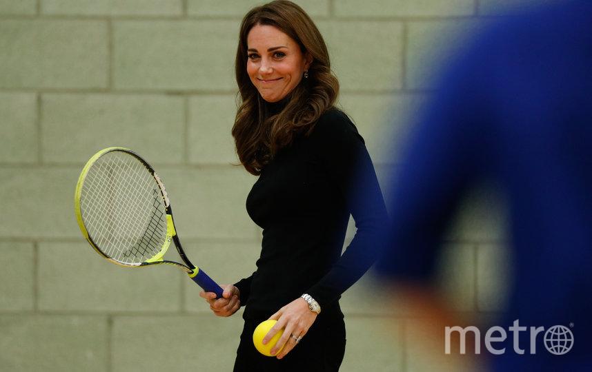 Кэтрин продемонстрировала на публике навыки игры в теннис осенью 2018 года. Фото Getty