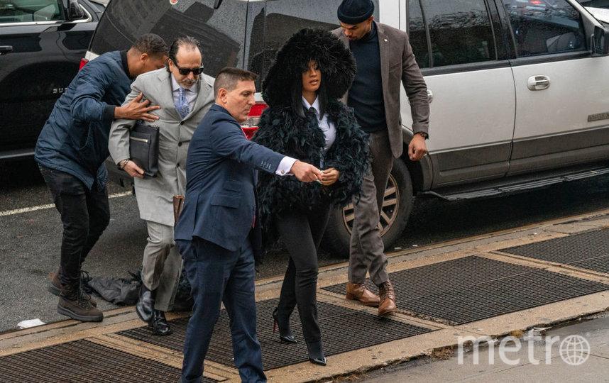 Карди Би в таком виде приехала в суд в Нью-Йорке. Фото Getty
