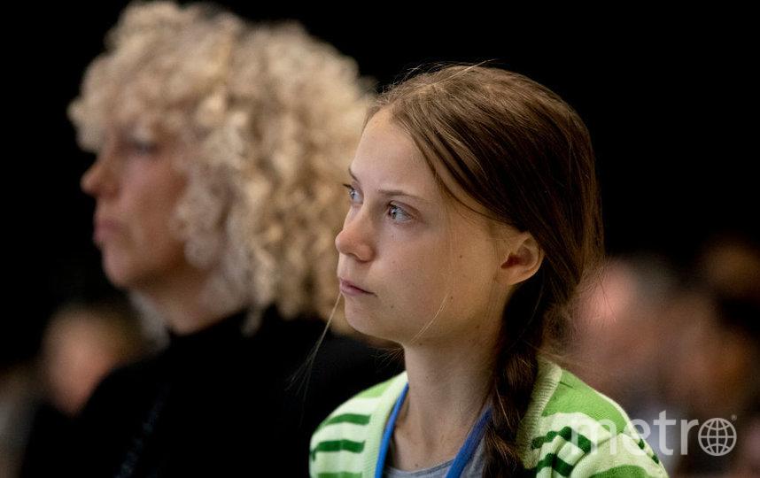 Грета Тунберг, которой для выступлений требуется подставка, стала человеком года - по версии Time. Фото Getty
