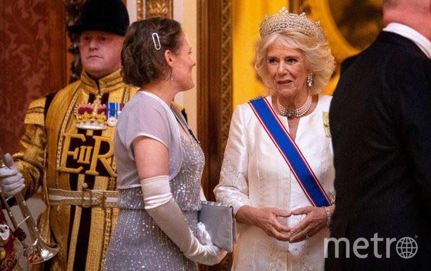 Супруга принца Чарльза на дипломатическом приеме 11 декабря. Фото Getty