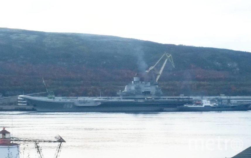 """Адмирал Кузнецов"" в Мурманске. Фото https://www.instagram.com/p/BKyQEjpAWnl/"