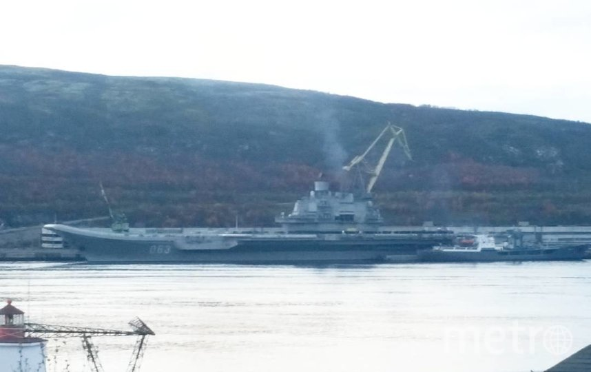 "Пожар на ""Адмирале Кузнецове"" приобретает масштабный характер. Фото соцсети, архив"