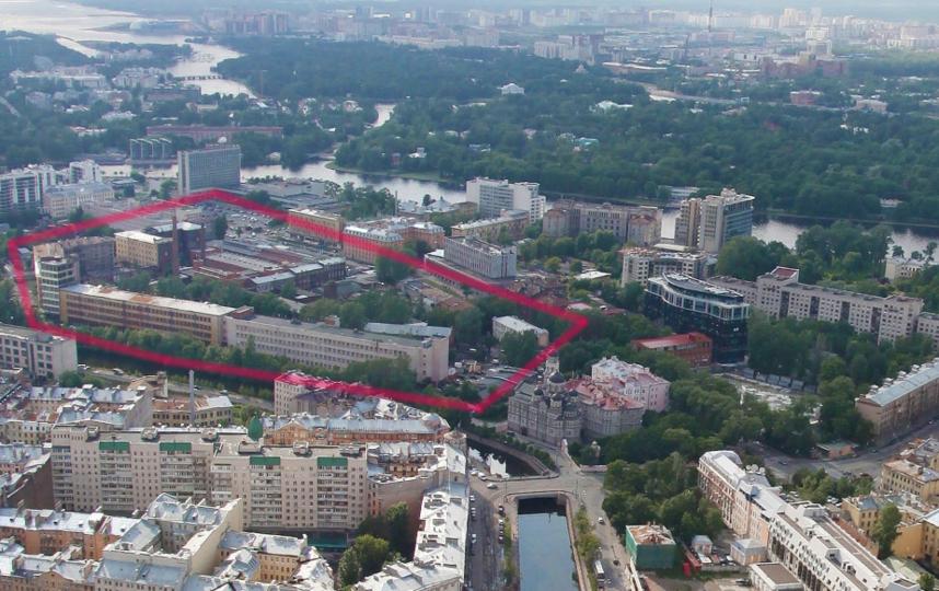 Территория находится между улицей Профессора Попова и рекой Карповкой. Фото Яндекс.Панорамы