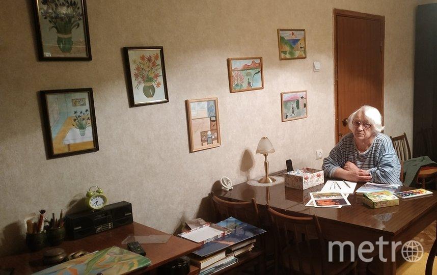 """«Я тебе не бабушка и не прабабушка»! Я художник и поэт» — это лозунг моей мамы. Зоз Нимфа Николаевна, 1931 года рождения. Генетик, доктор наук, профессор. Бабушка четверых внуков. Прабабушка троих правнуков. Фото Марина Востокова, """"Metro"""""""